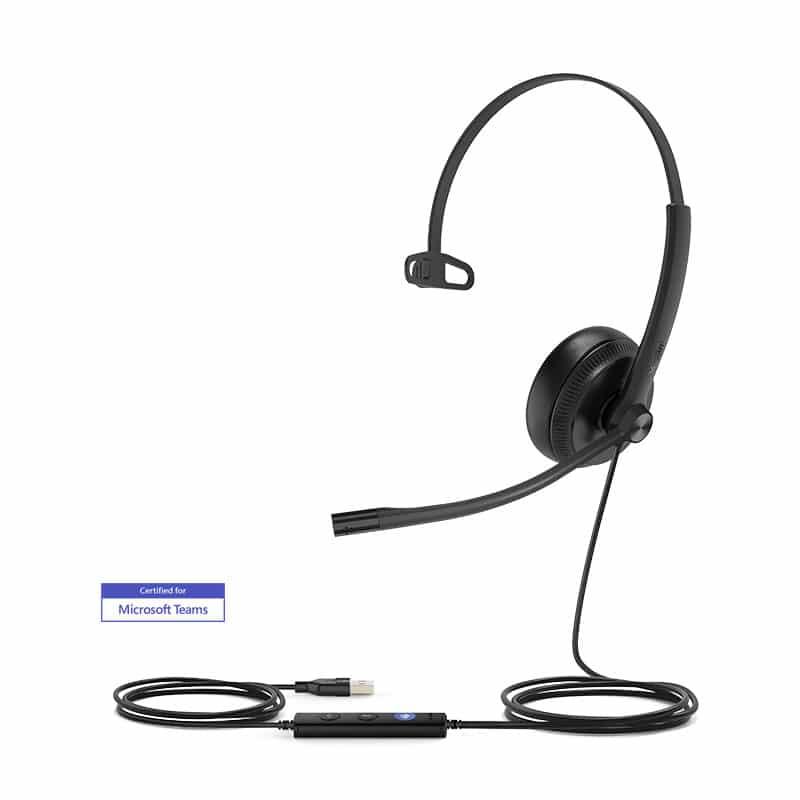 שיחות ועידה אוזניות USB מקשרות קישוריות Plug-and-Play UH34 Mono Yealink ארגוקום